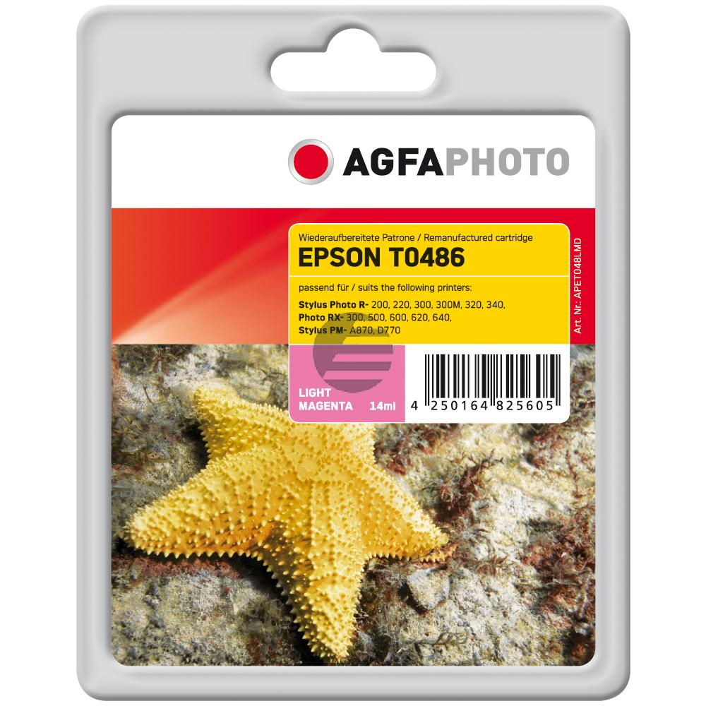 Agfaphoto Tintenpatrone magenta light (APET048LMD) ersetzt C13T04864010 / T0486