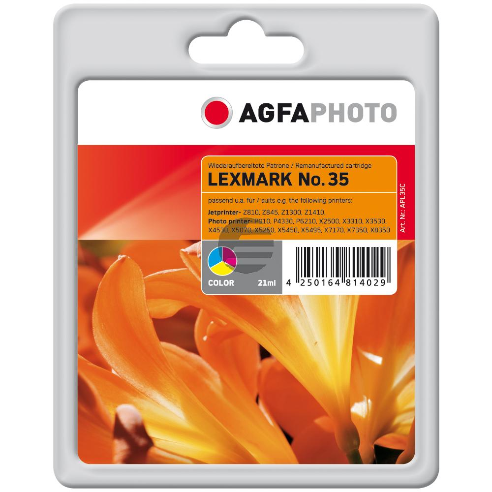 Agfaphoto Tintendruckkopf cyan/gelb/magenta HC (APL35C) ersetzt 18C0035E / 35