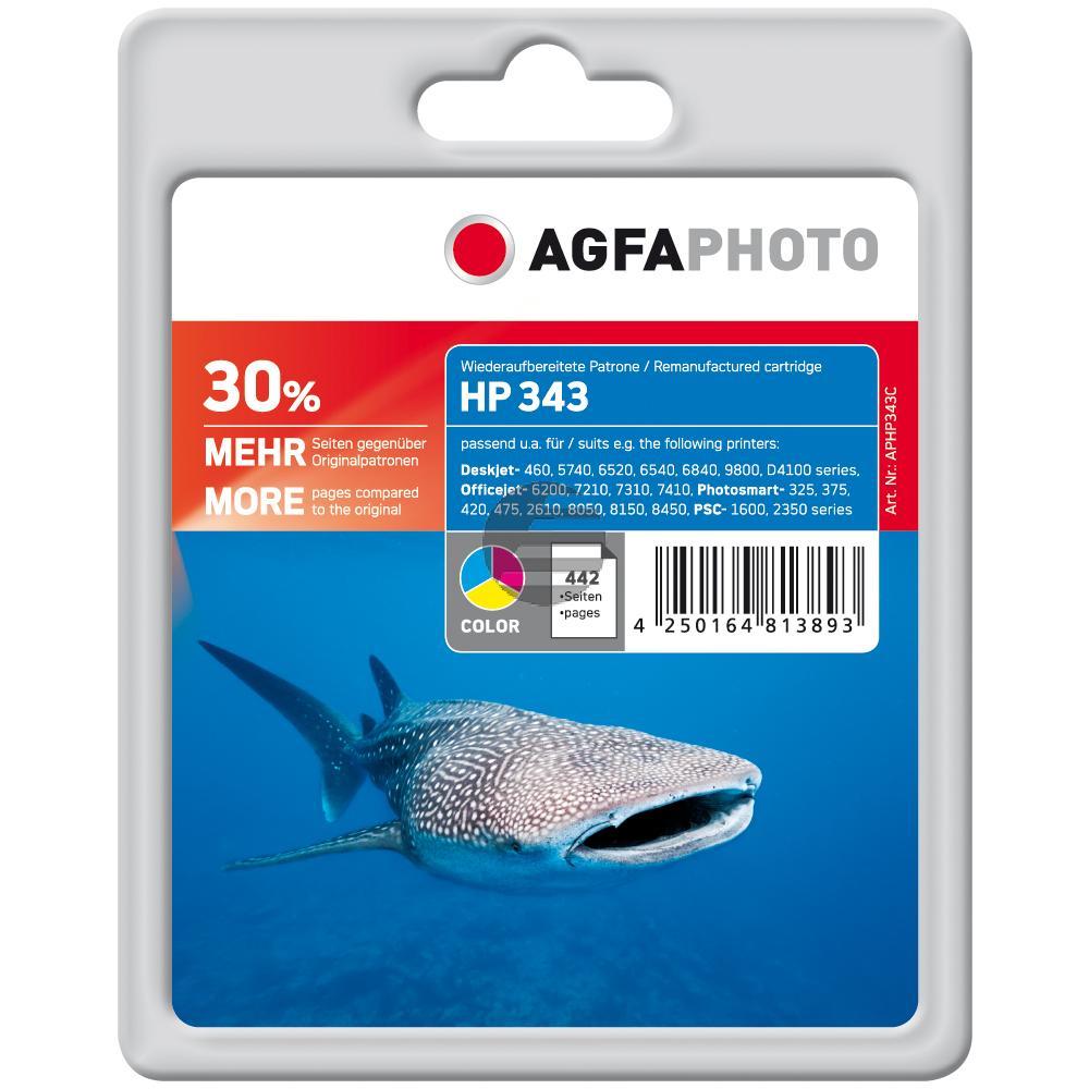Agfaphoto Tintendruckkopf cyan/gelb/magenta (APHP343C) ersetzt C8766EE / 343
