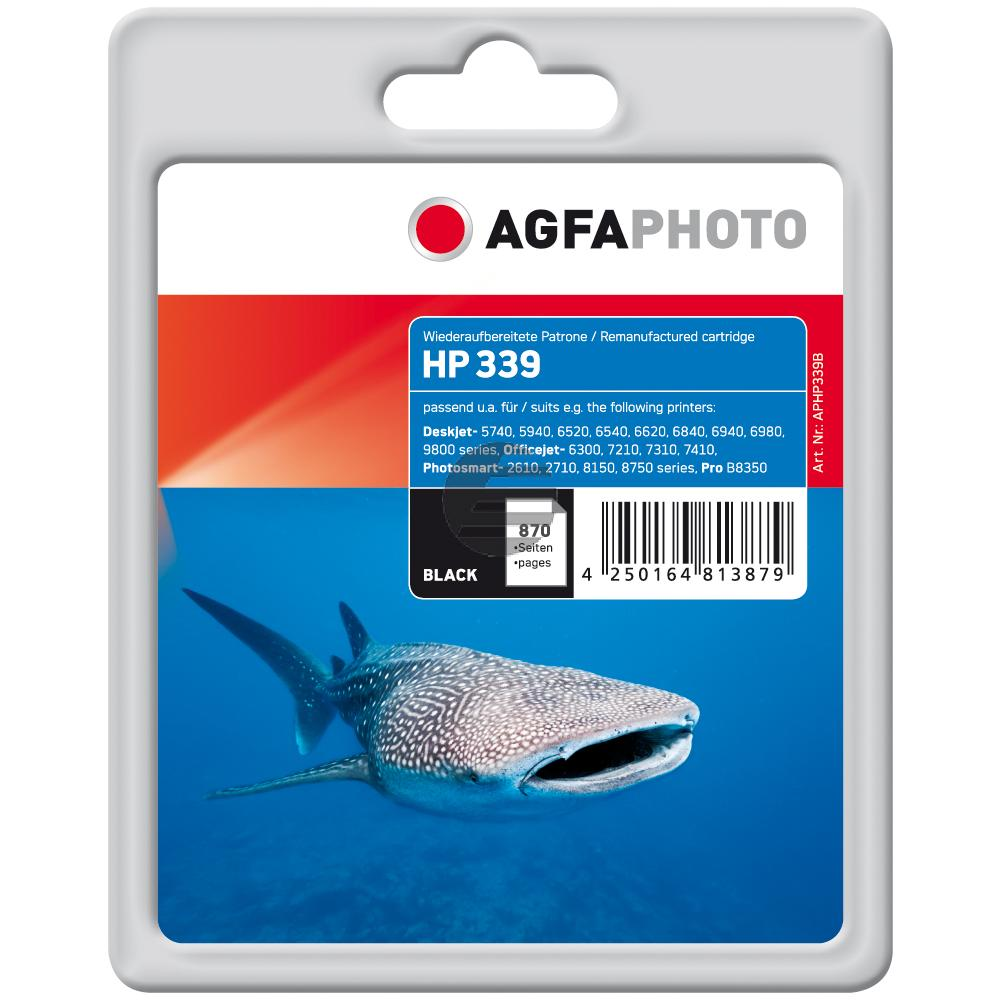 Agfaphoto Tintendruckkopf schwarz HC (APHP339B) ersetzt C8767EE / 339