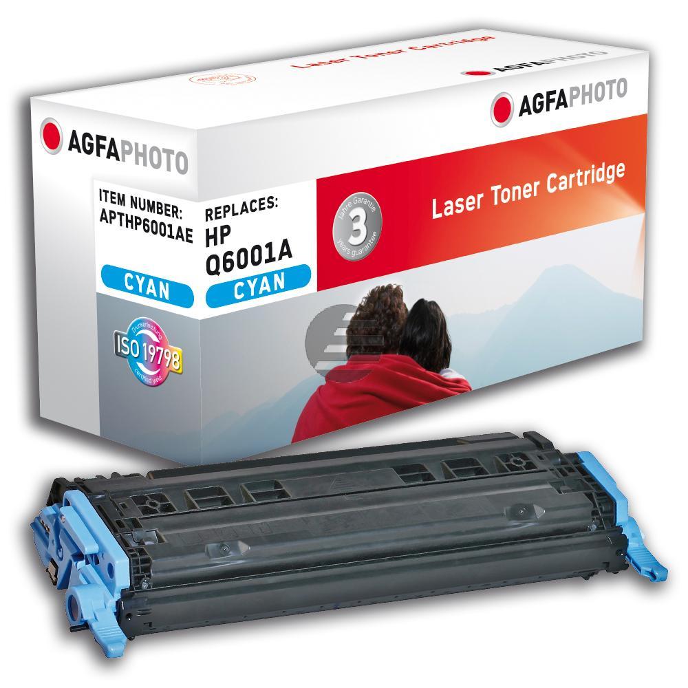 Agfaphoto Toner-Kartusche cyan (APTHP6001AE) ersetzt Q6001A / 124A