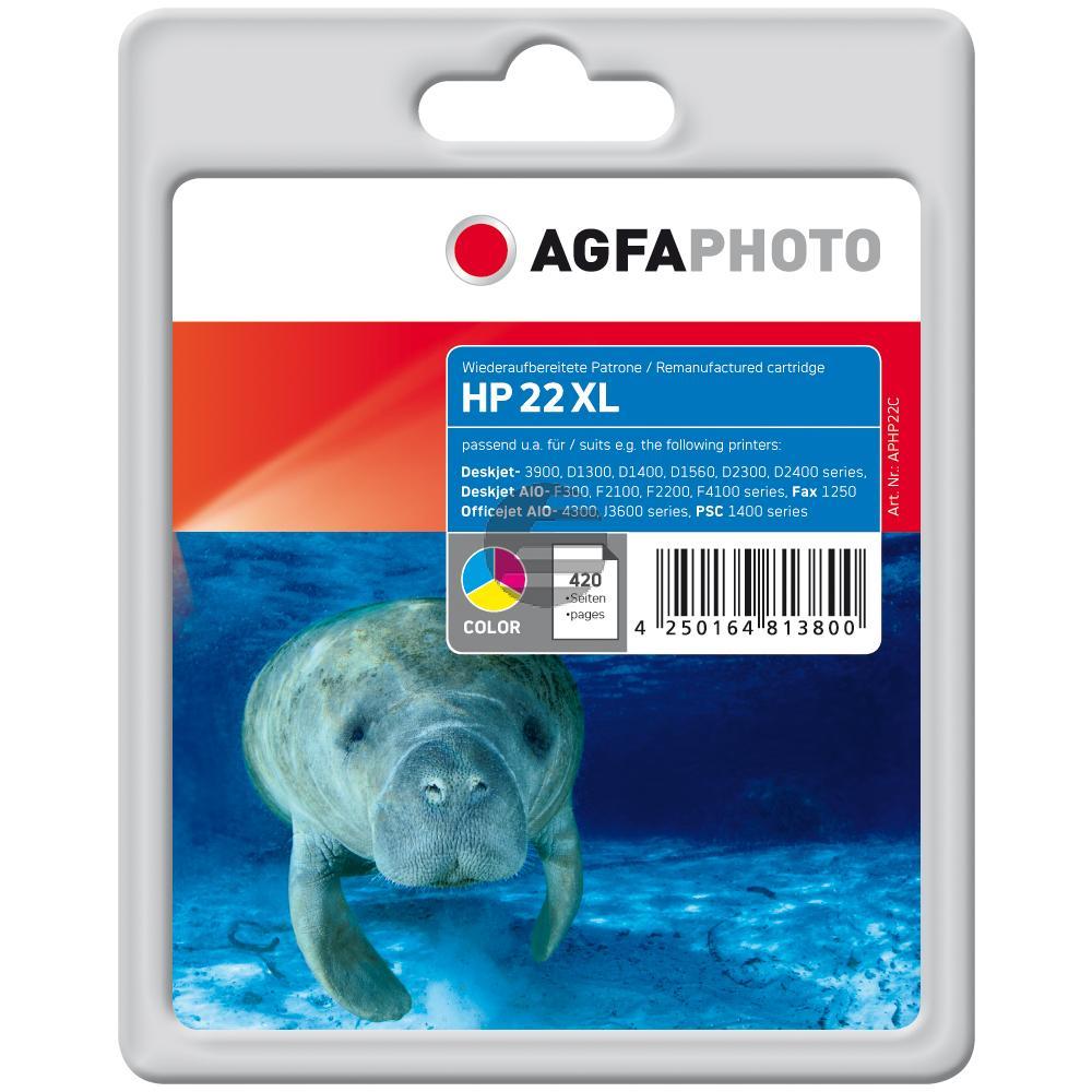 Agfaphoto Tintendruckkopf cyan/gelb/magenta (APHP22C) ersetzt C9352CE / 22XL