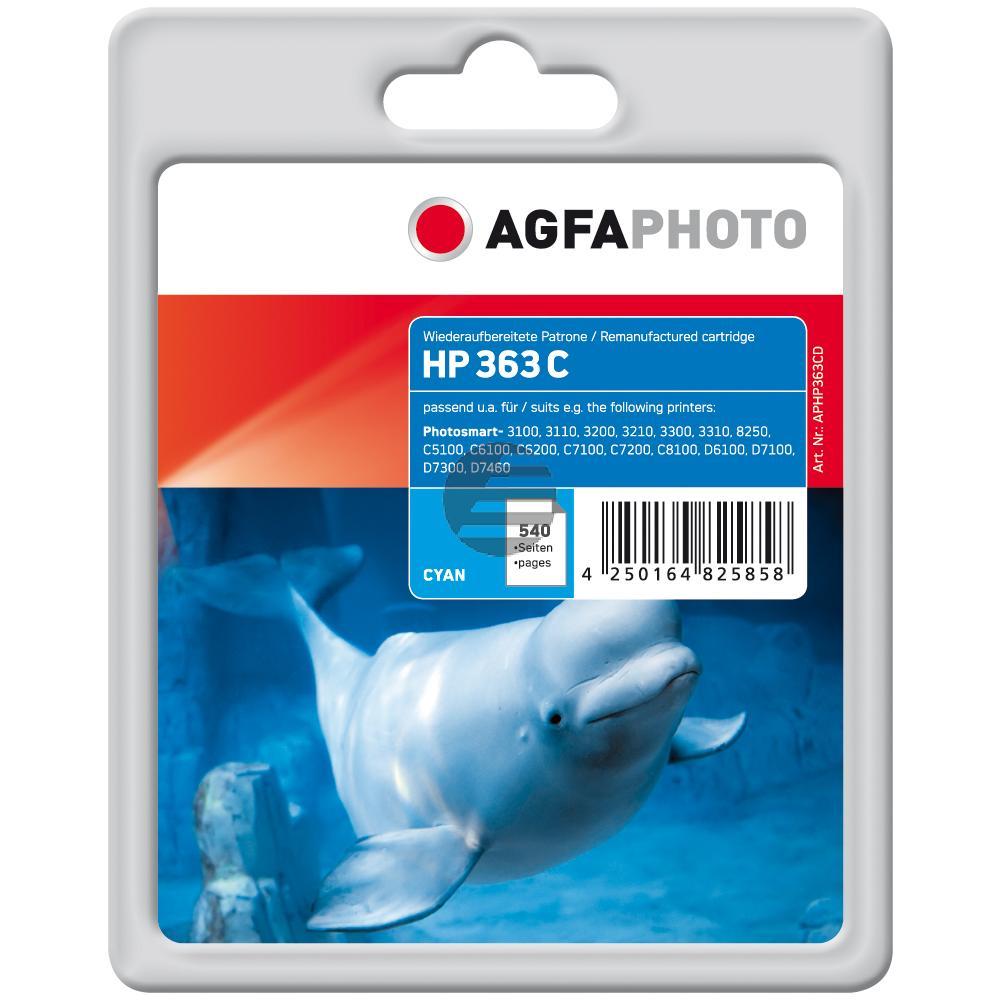 Agfaphoto Tintenpatrone cyan (APHP363CD) ersetzt C8771EE / 363