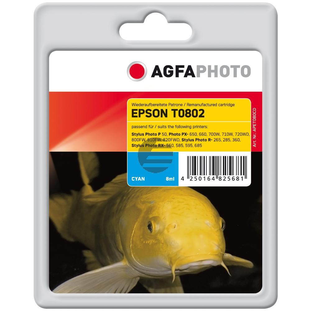 Agfaphoto Tintenpatrone cyan (APET080CD)