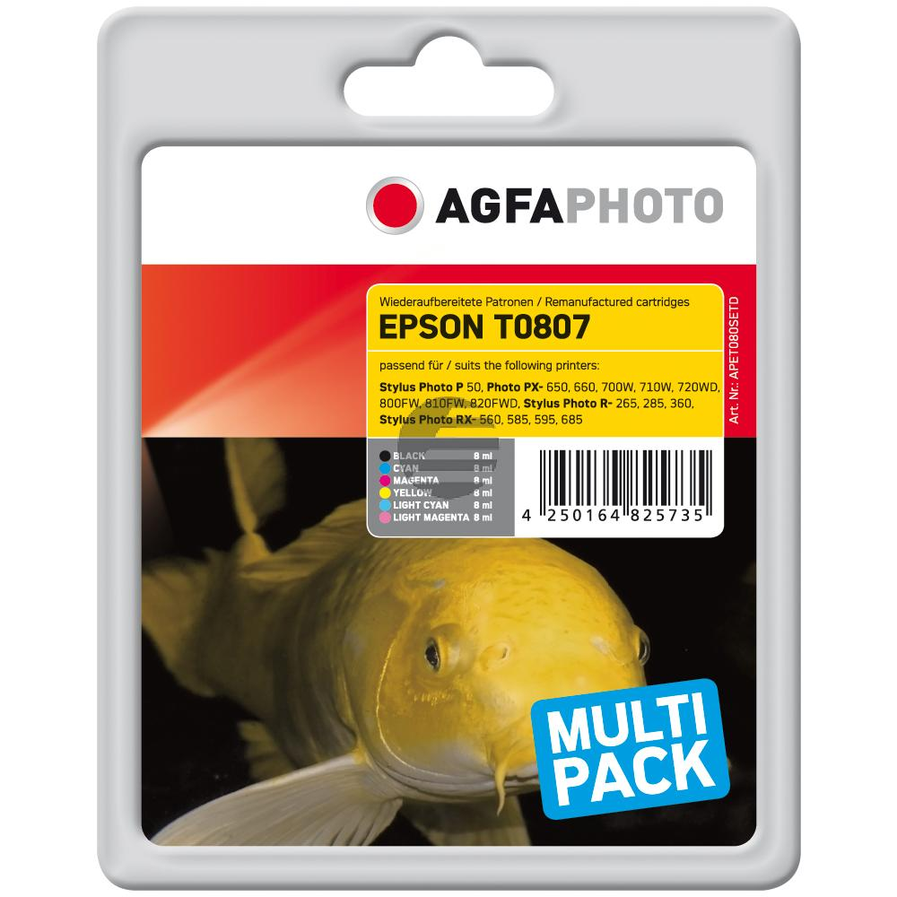 Agfaphoto Tintenpatrone gelb cyan cyan light magenta magenta light schwarz (APET080SETD)