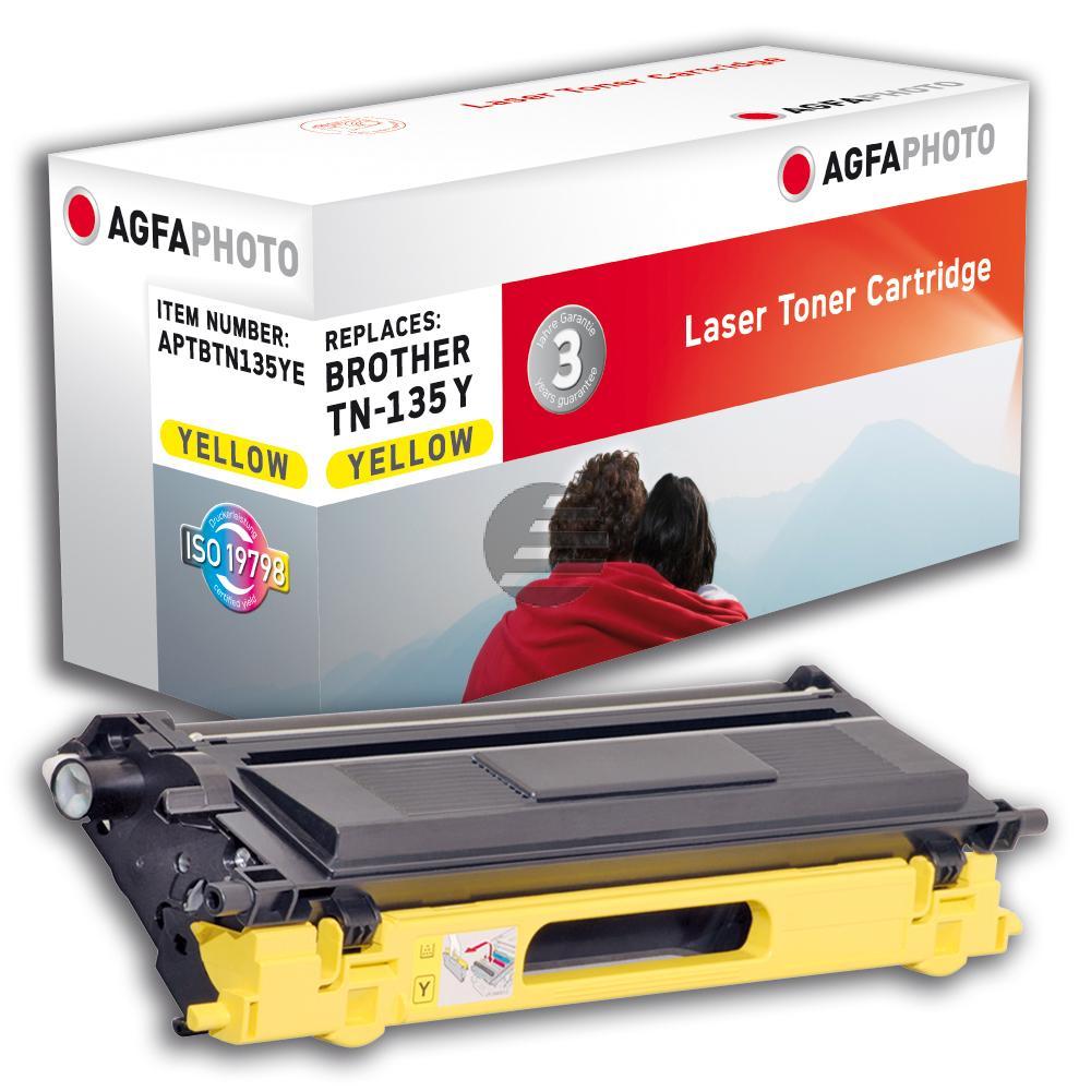 Agfaphoto Toner-Kit gelb HC (APTBTN135YE) ersetzt TN-135Y