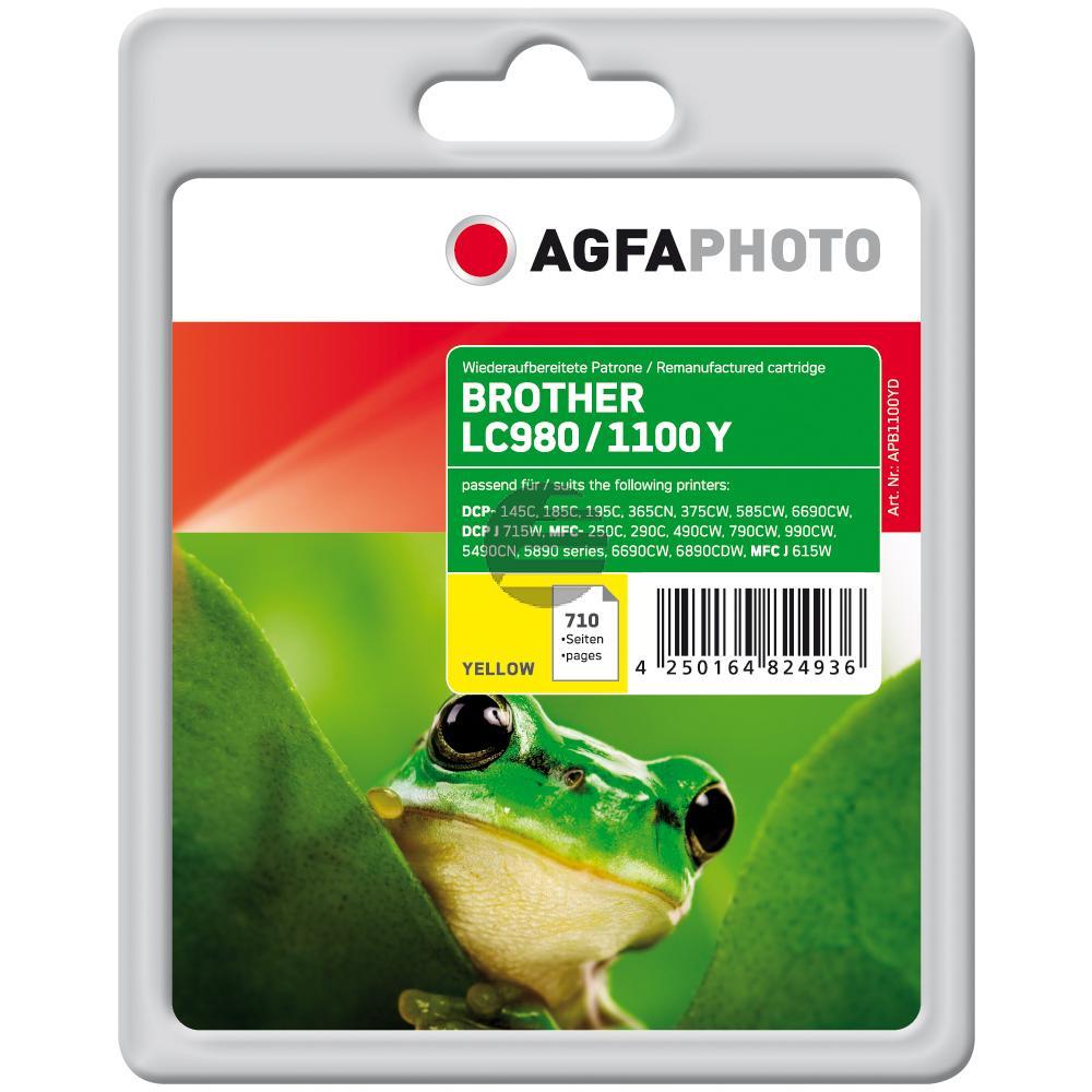 Agfaphoto Tintenpatrone gelb (APB1100YD) ersetzt LC-980Y / LC-1100Y
