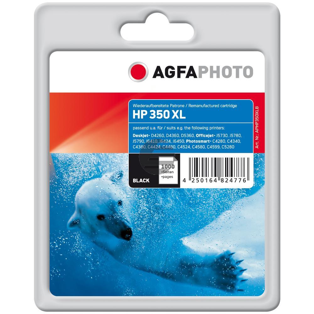 Agfaphoto Tintendruckkopf schwarz HC (APHP350XLB) ersetzt CB336EE / 350XL