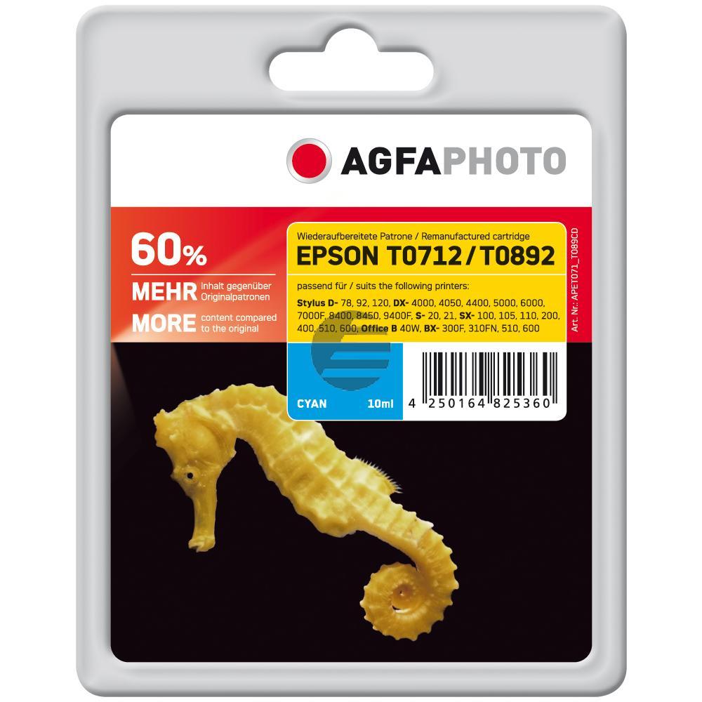 Agfaphoto Tintenpatrone cyan HC (APET071_T089CD)