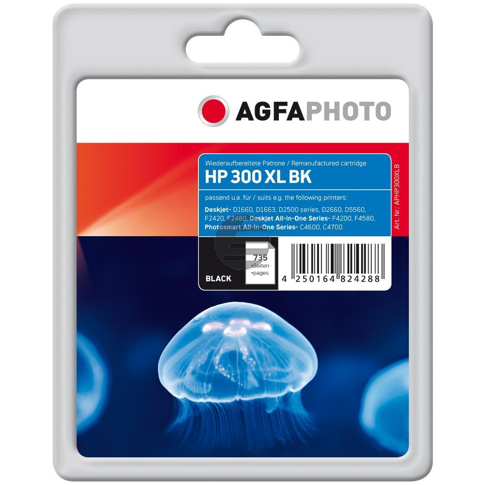 Agfaphoto Tintendruckkopf schwarz HC (APHP300XLB) ersetzt CC641EE / 300XL