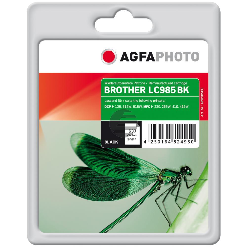 Agfaphoto Tintenpatrone schwarz (APB985BD) ersetzt LC-985BK