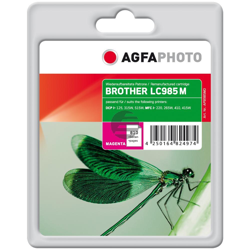 Agfaphoto Tintenpatrone magenta (APB985MD) ersetzt LC-985M