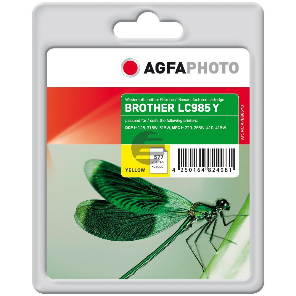 Agfaphoto Tintenpatrone gelb (APB985YD) ersetzt LC-985Y