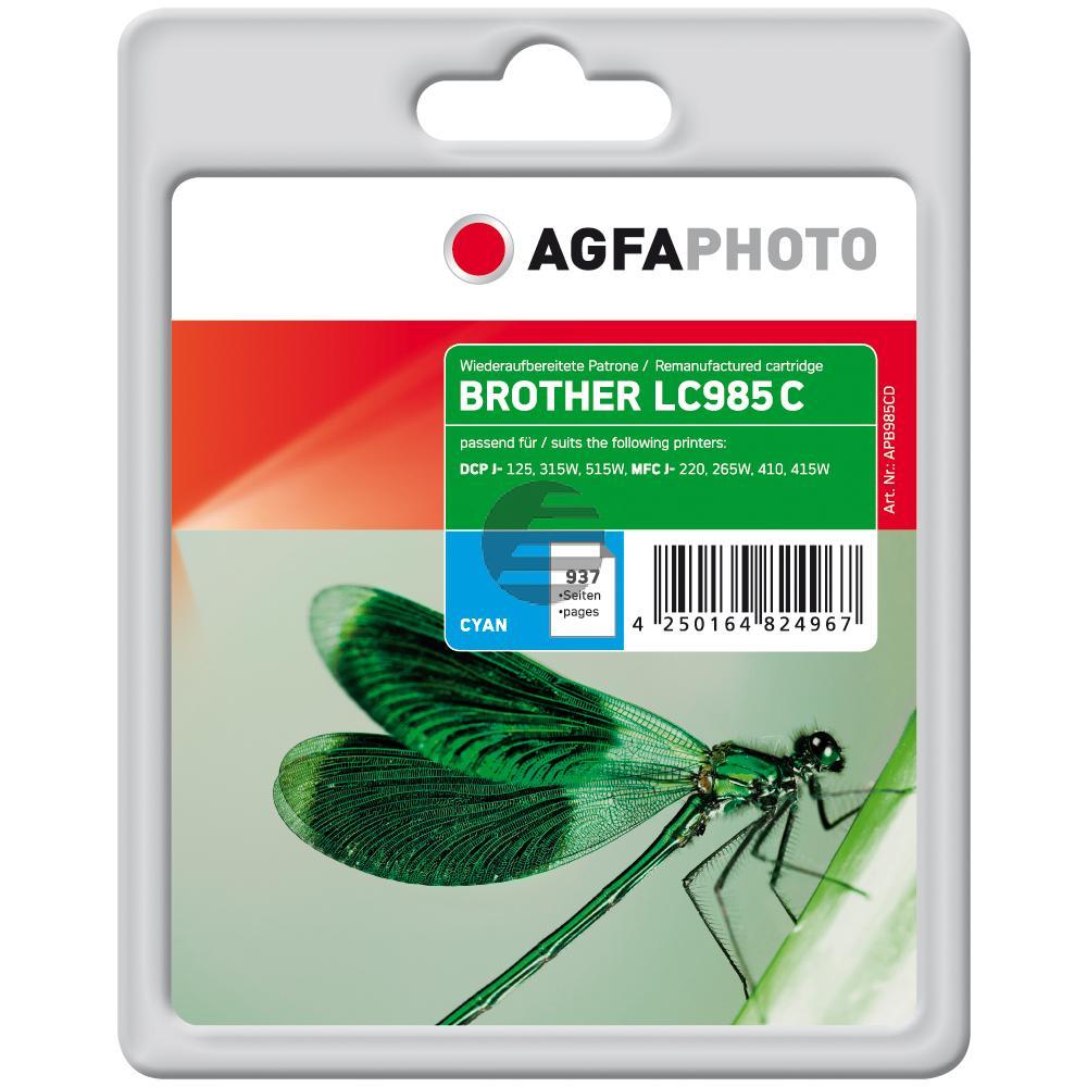 Agfaphoto Tintenpatrone cyan (APB985CD) ersetzt LC-985C
