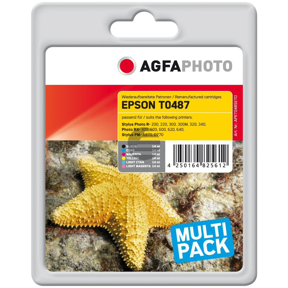 Agfaphoto Tintenpatrone gelb cyan cyan light magenta magenta light schwarz (APET048SETD)