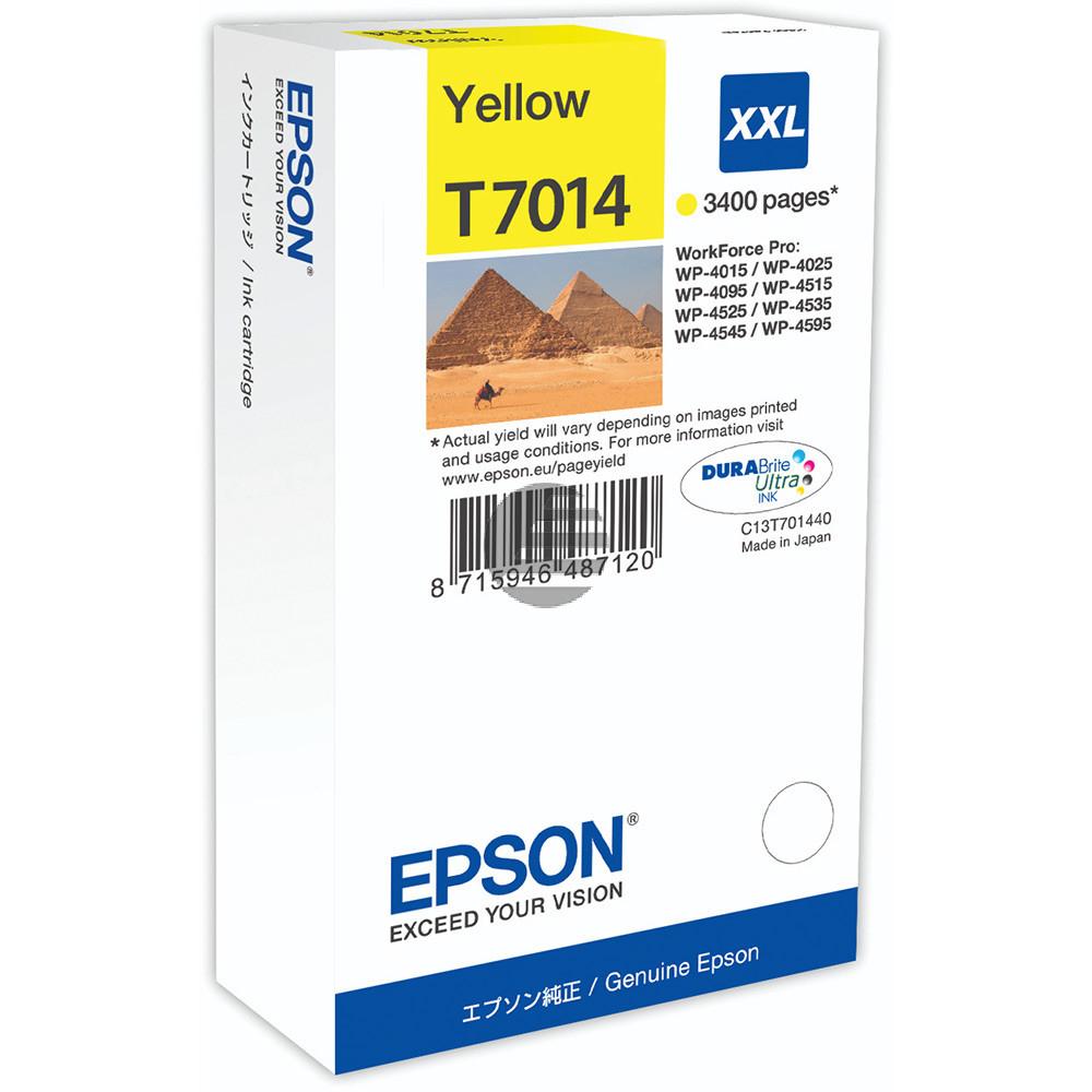 Epson Tintenpatrone gelb HC plus (C13T70144010, T7014)