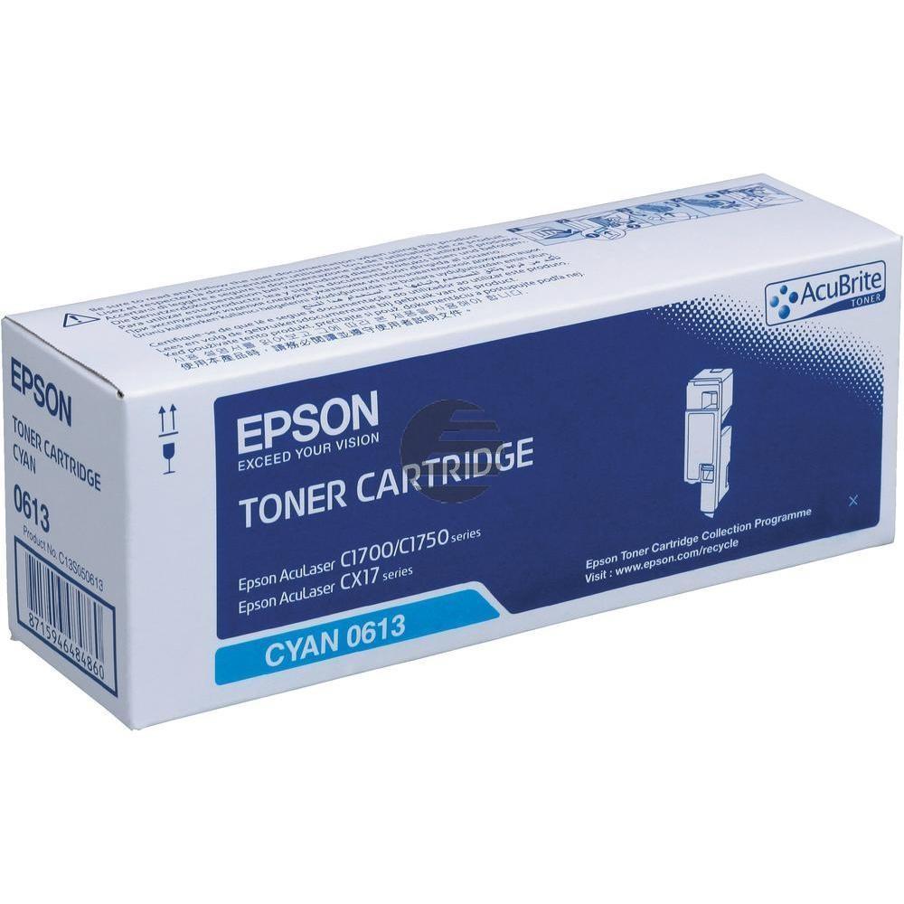 Epson Toner-Kartusche cyan HC (C13S050613, 0613)