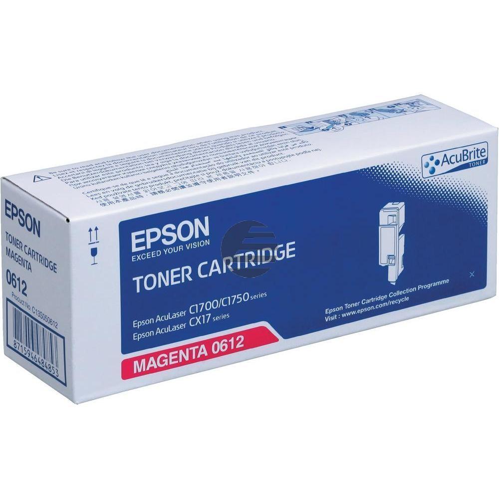 Epson Toner-Kartusche magenta HC (C13S050612, 0612)