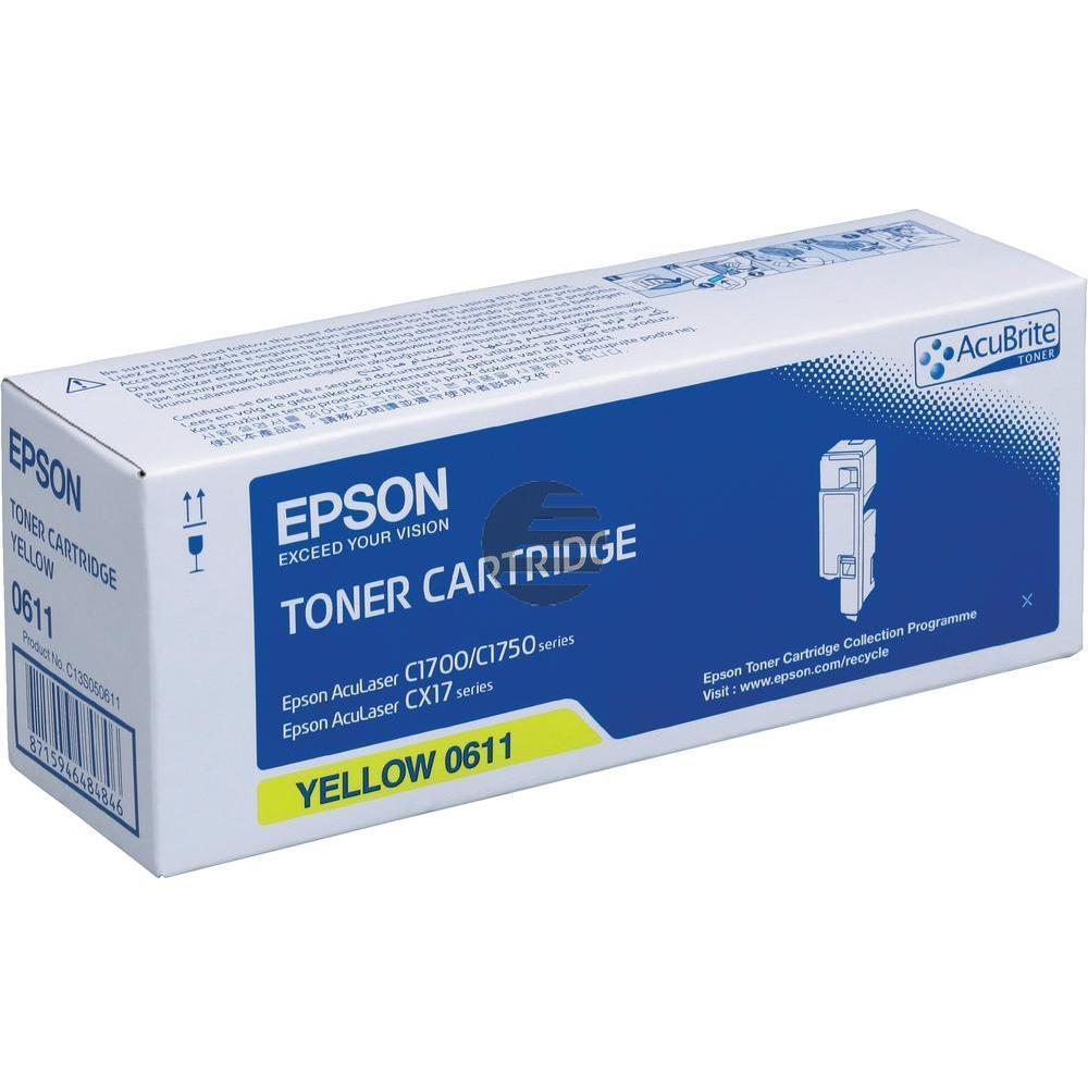 Epson Toner-Kartusche gelb HC (C13S050611, 0611)