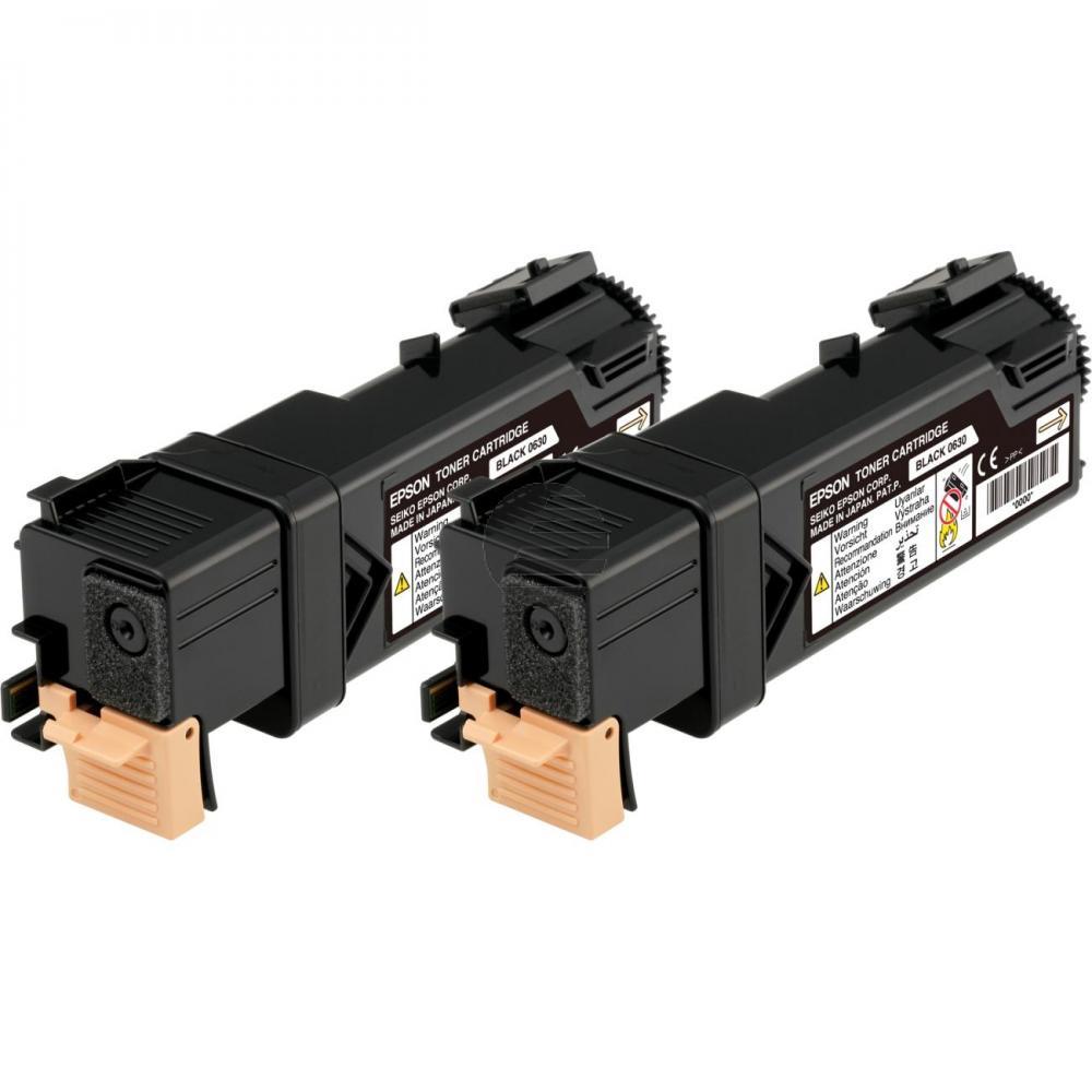 Epson Toner-Kit 2 x schwarz 2-Pack (C13S050631, 0631)