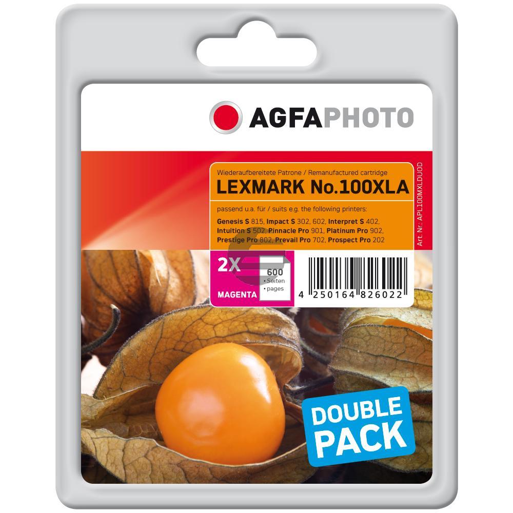 Agfaphoto Tintenpatrone 2x magenta HC (APL100MXLDUOD)