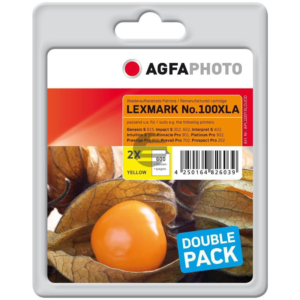 Agfaphoto Tintenpatrone 2x gelb HC (APL100YXLDUOD)