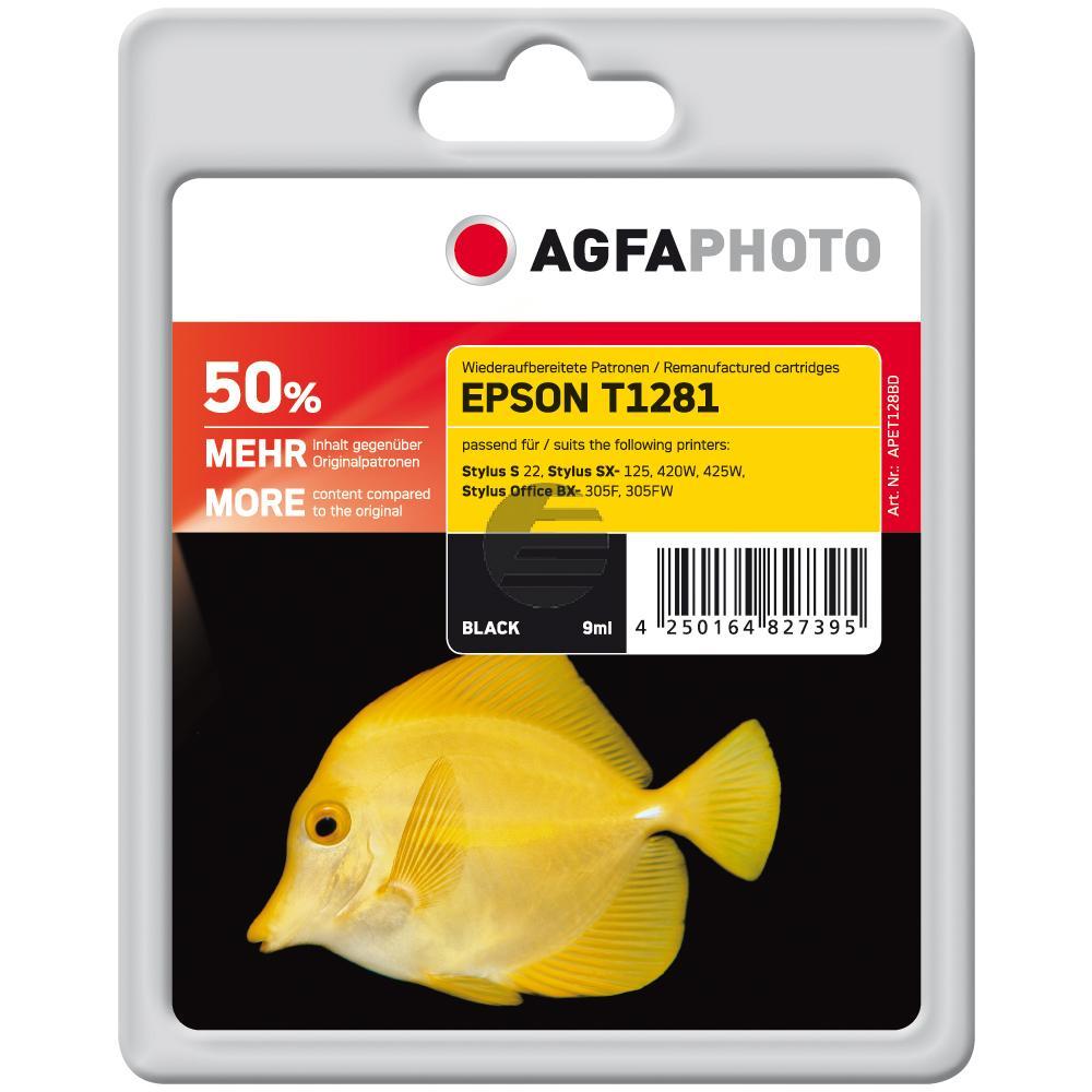 Agfaphoto Tintenpatrone schwarz (APET128BD) ersetzt T1281