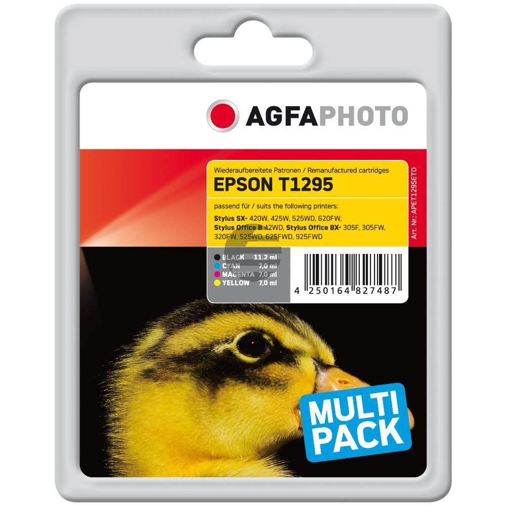 Agfaphoto Tintenpatrone gelb cyan magenta schwarz HC (APET129SETD)