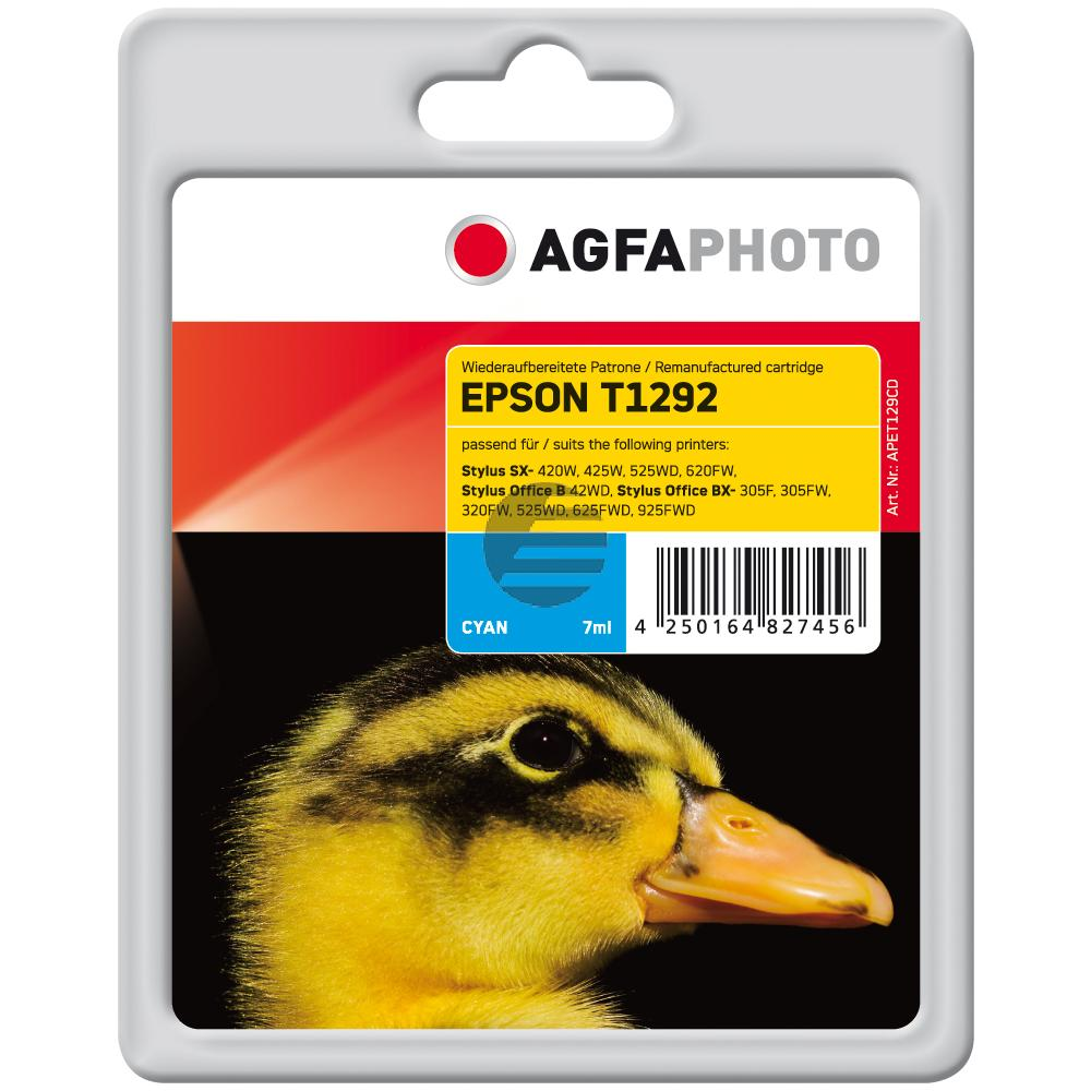 Agfaphoto Tintenpatrone cyan HC (APET129CD)