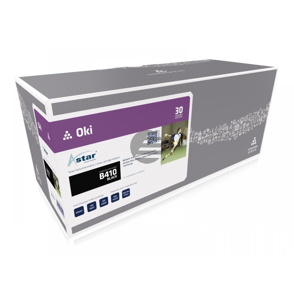 Astar Toner-Kit schwarz (AS10102) ersetzt 43979102
