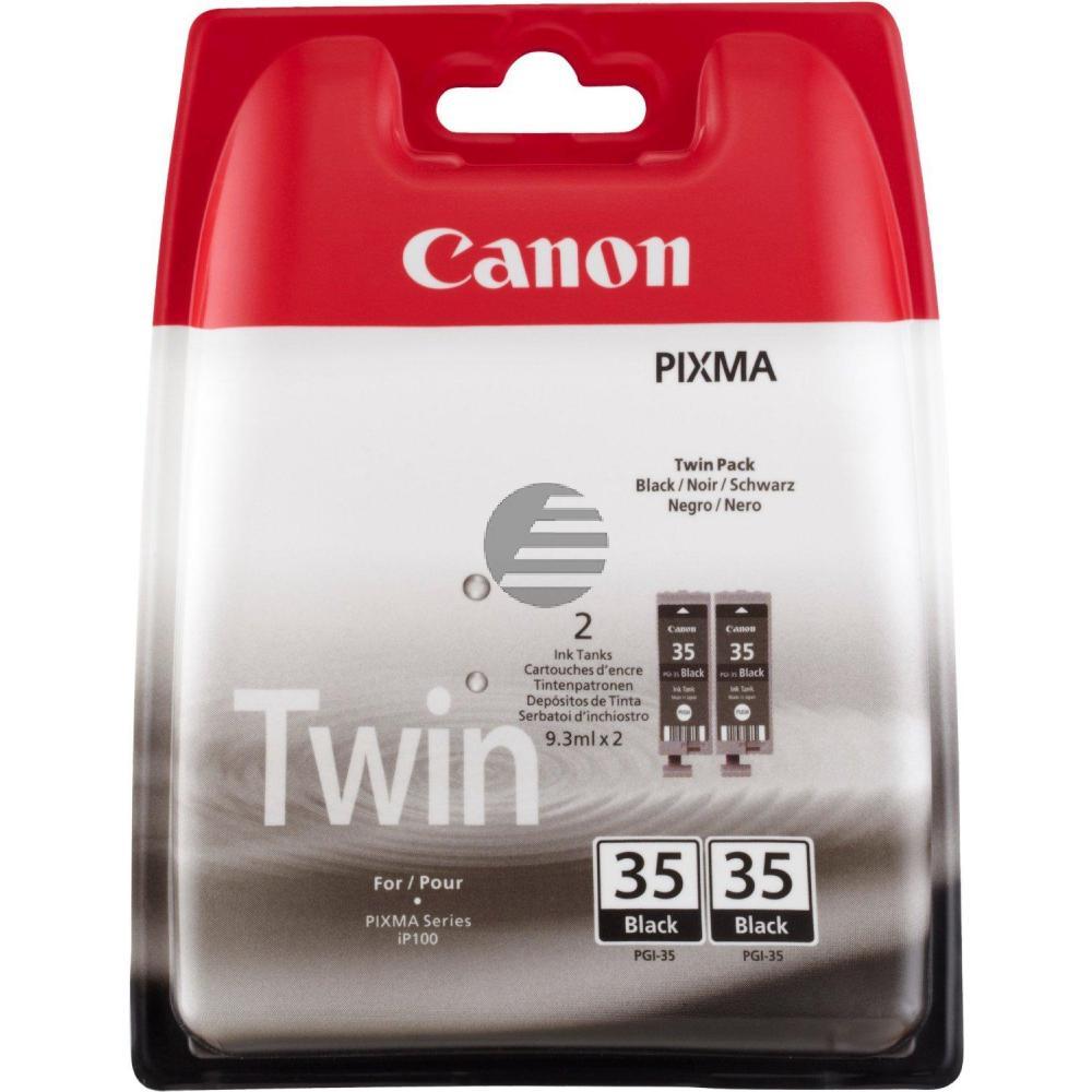 Canon Tintenpatrone 2 x schwarz (1509B012, 2 x PGI-35/TWIN)