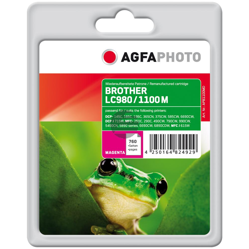 Agfaphoto Tintenpatrone magenta (APB1100MD) ersetzt LC-1100M / LC-980M