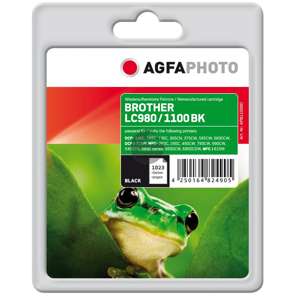 Agfaphoto Tintenpatrone schwarz (APB1100BD) ersetzt LC-1100BK / LC-980BK