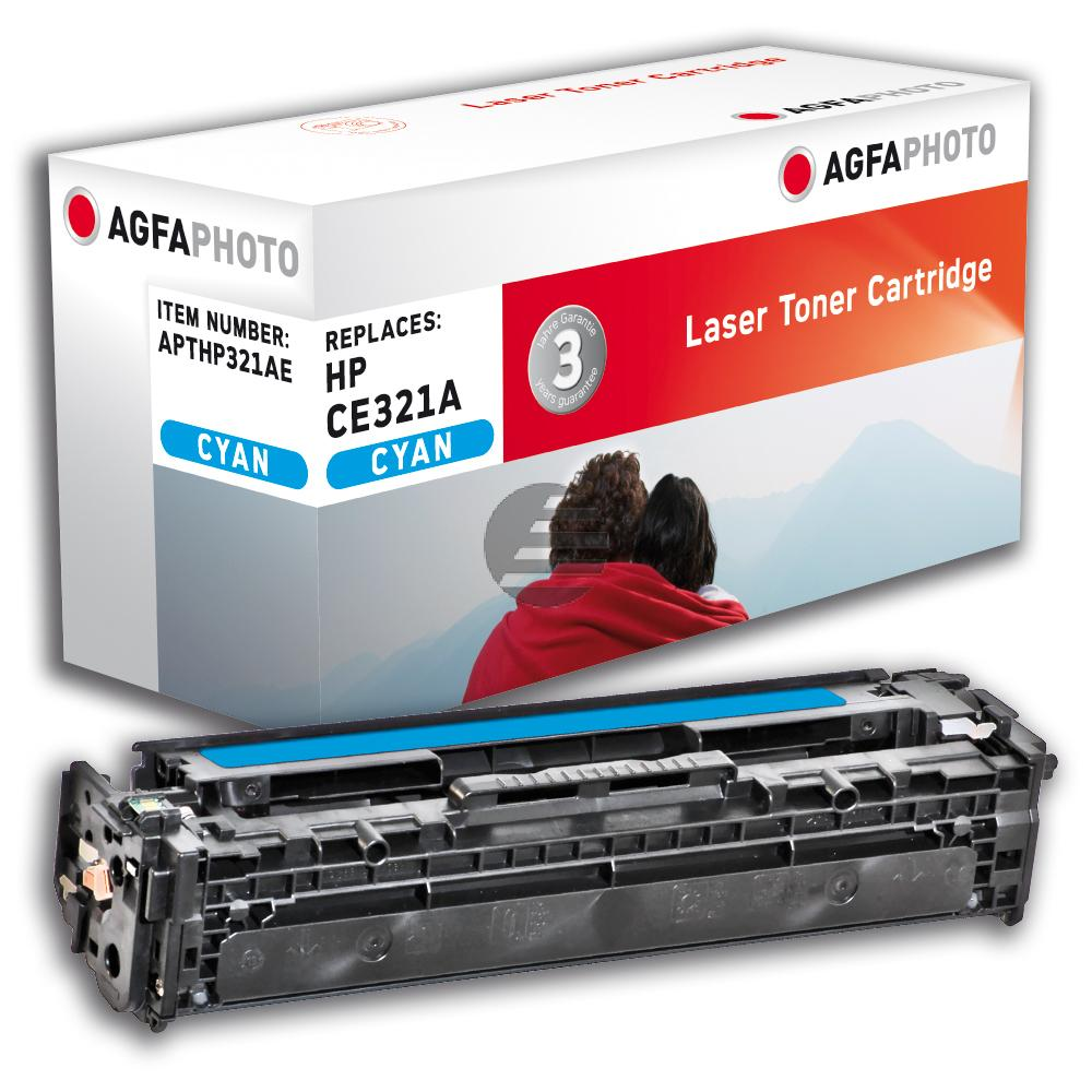 Agfaphoto Toner-Kartusche cyan (APTHP321AE) ersetzt CE321A / 128A