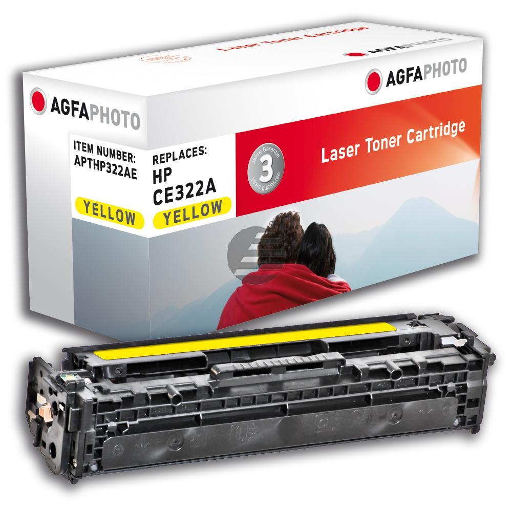 Agfaphoto Toner-Kartusche gelb (APTHP322AE) ersetzt CE322A / 128A