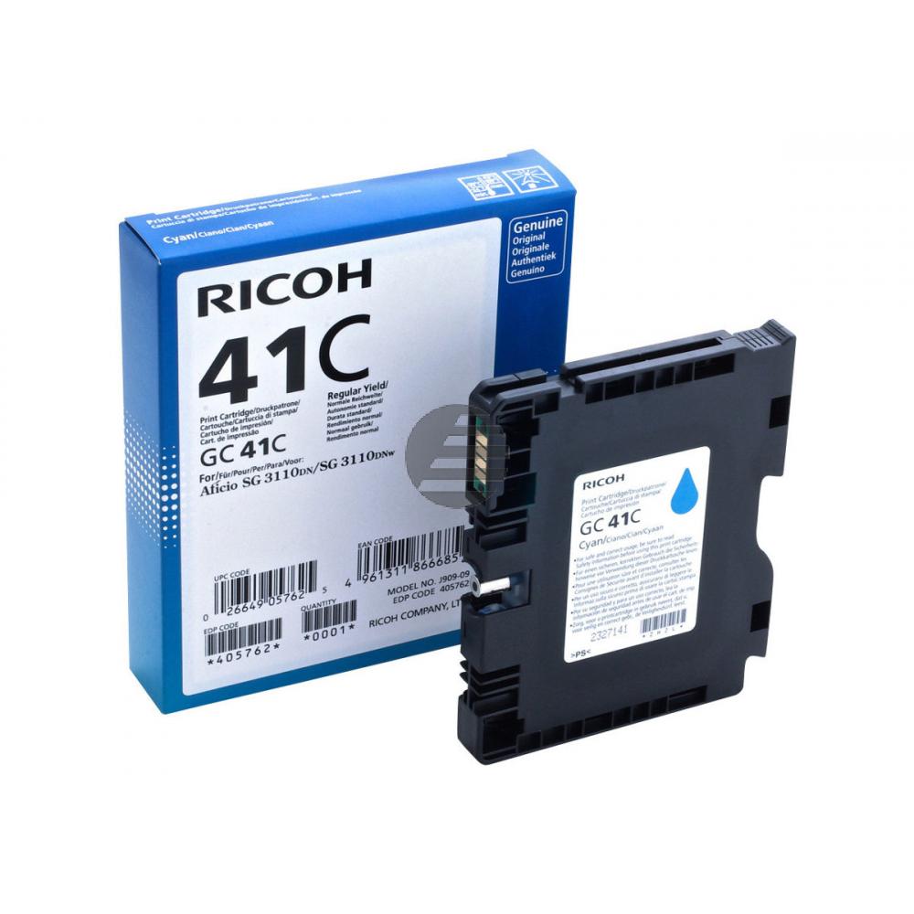 Ricoh Gel-Kartuschen cyan HC (405762, GC-41CH)