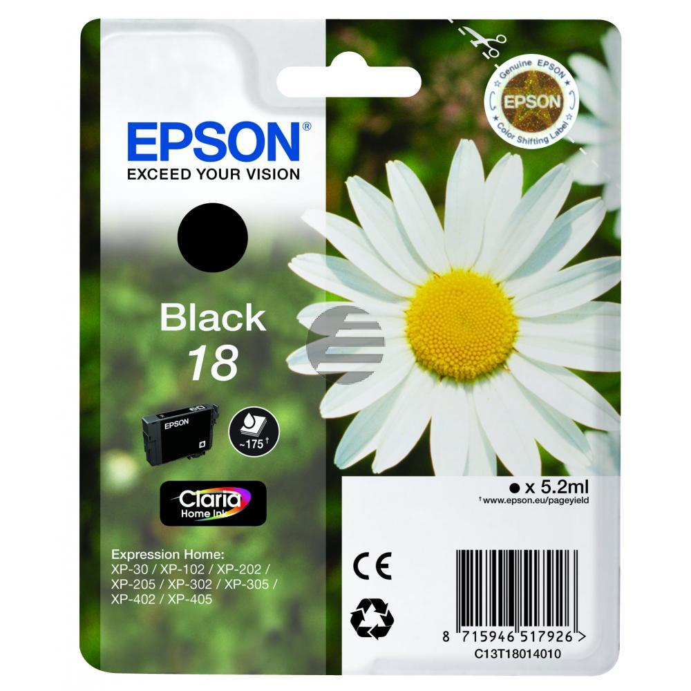 Epson Tinte schwarz (C13T18014010, T1801)