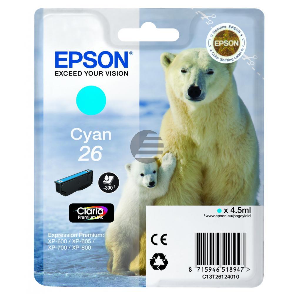 Epson Tinte Cyan (C13T26124010, T2612)