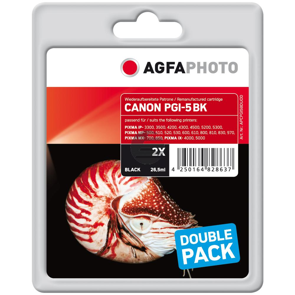 Agfaphoto Tintenpatrone 2 x schwarz 2-Pack (APCPGI5BDUOD)