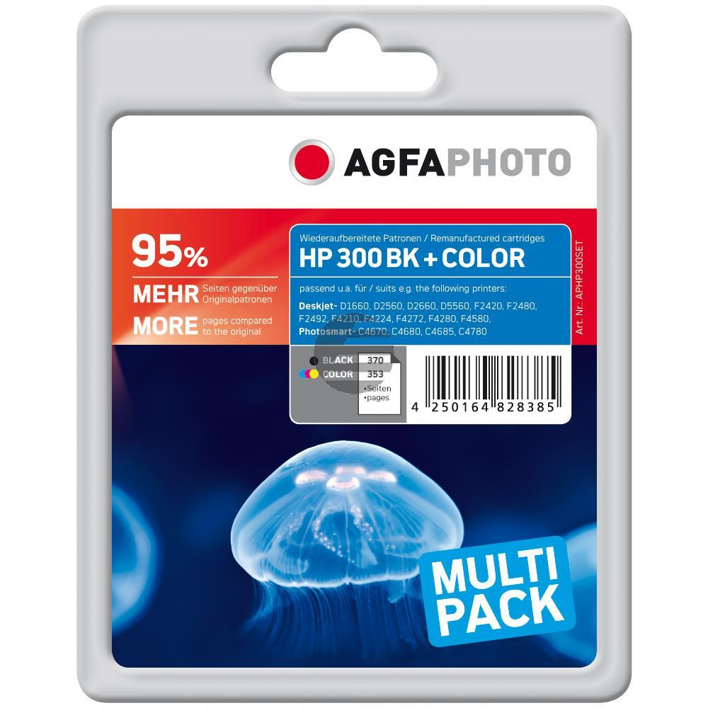 Agfaphoto Tinte Cyan/gelb/Magenta schwarz (APHP300SET)