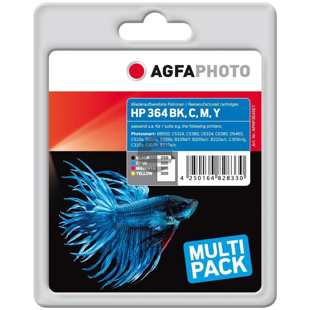 Agfaphoto Tintenpatrone gelb cyan magenta schwarz (APHP364SET)