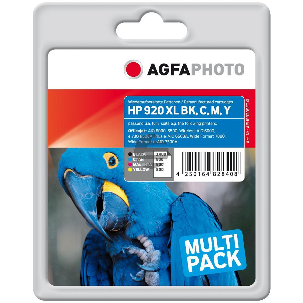 Agfaphoto Tintenpatrone gelb cyan magenta schwarz HC (APHP920SETXL)