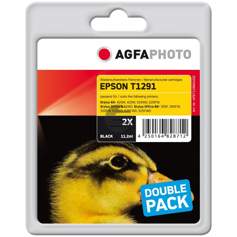 Agfaphoto Tintenpatrone 2x schwarz HC (APET129BDUOD)