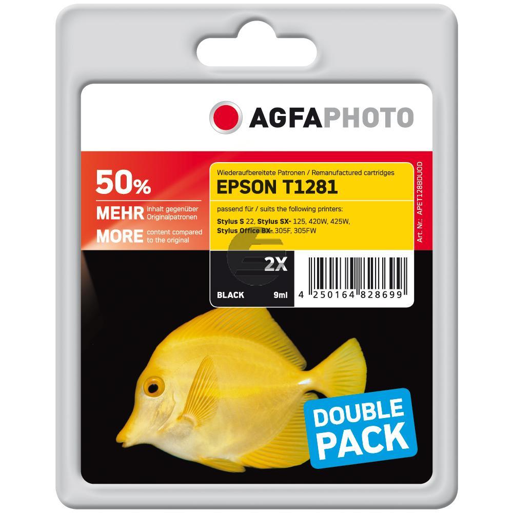 Agfaphoto Tintenpatrone schwarz (APET128BDUOD)