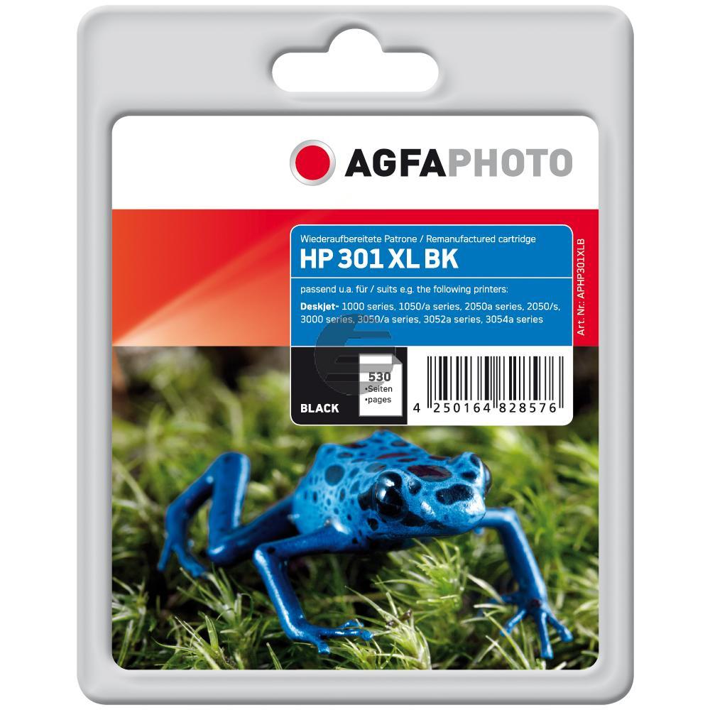 Agfaphoto Tintendruckkopf schwarz HC (APHP301XLB) ersetzt CH563EE / 301XL
