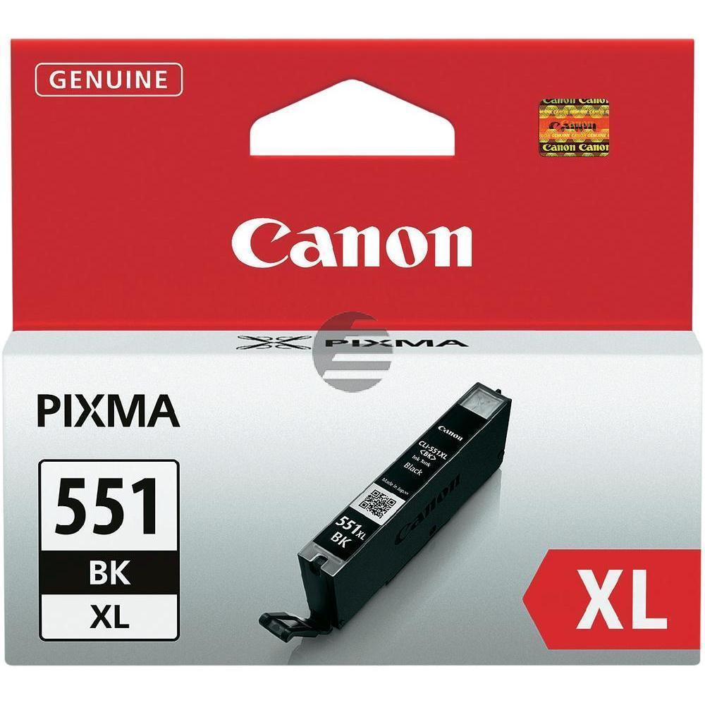 Canon Tinte schwarz HC (6443B001, CLI-551BKXL)