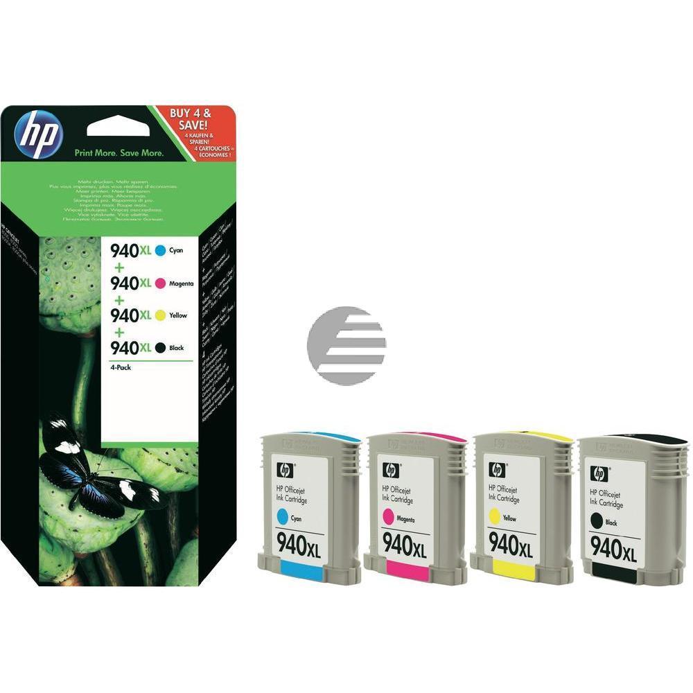 HP Tintenpatrone gelb cyan magenta schwarz (C2N93AE, 4x 940XL)