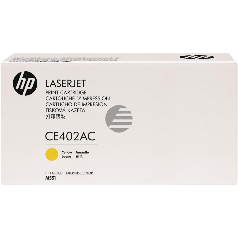 HP Toner-Kartusche Contract gelb (CE402AC, 507AC)