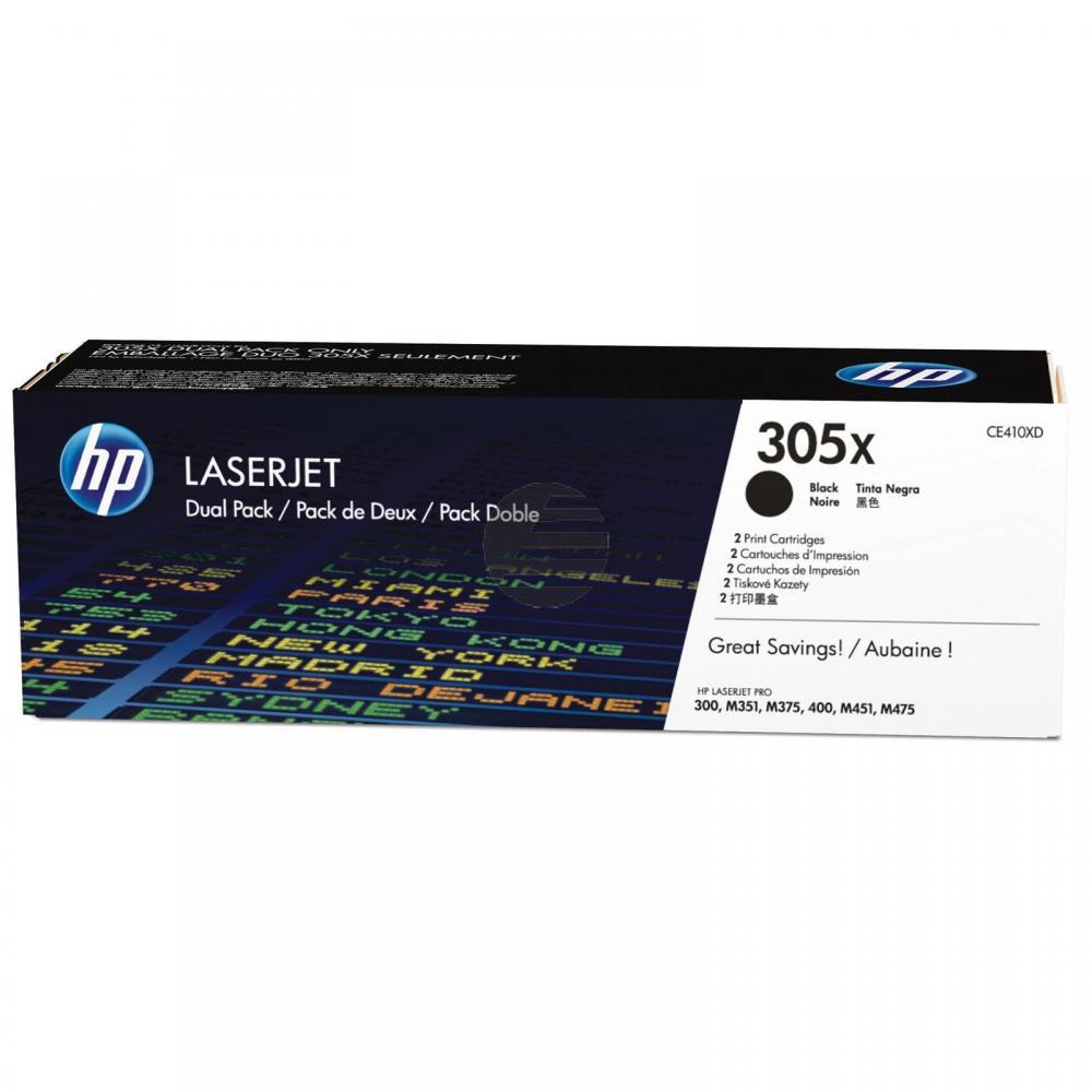 HP Toner-Kartusche 2x schwarz 2-er Pack (CE410XD, 305XD)