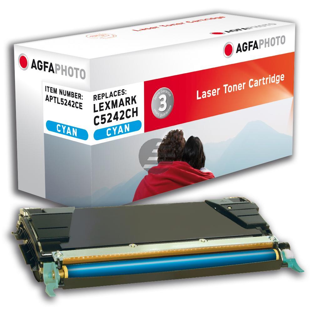 Agfaphoto Toner-Kartusche cyan HC (APTL5242CE) ersetzt C5242CH